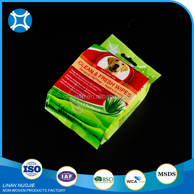 China Factory Price Good Quality Cleaning Grooming Pet Dog Clean Wet Wipes