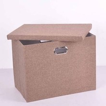 Newest square metal handle collapsible storage box linen