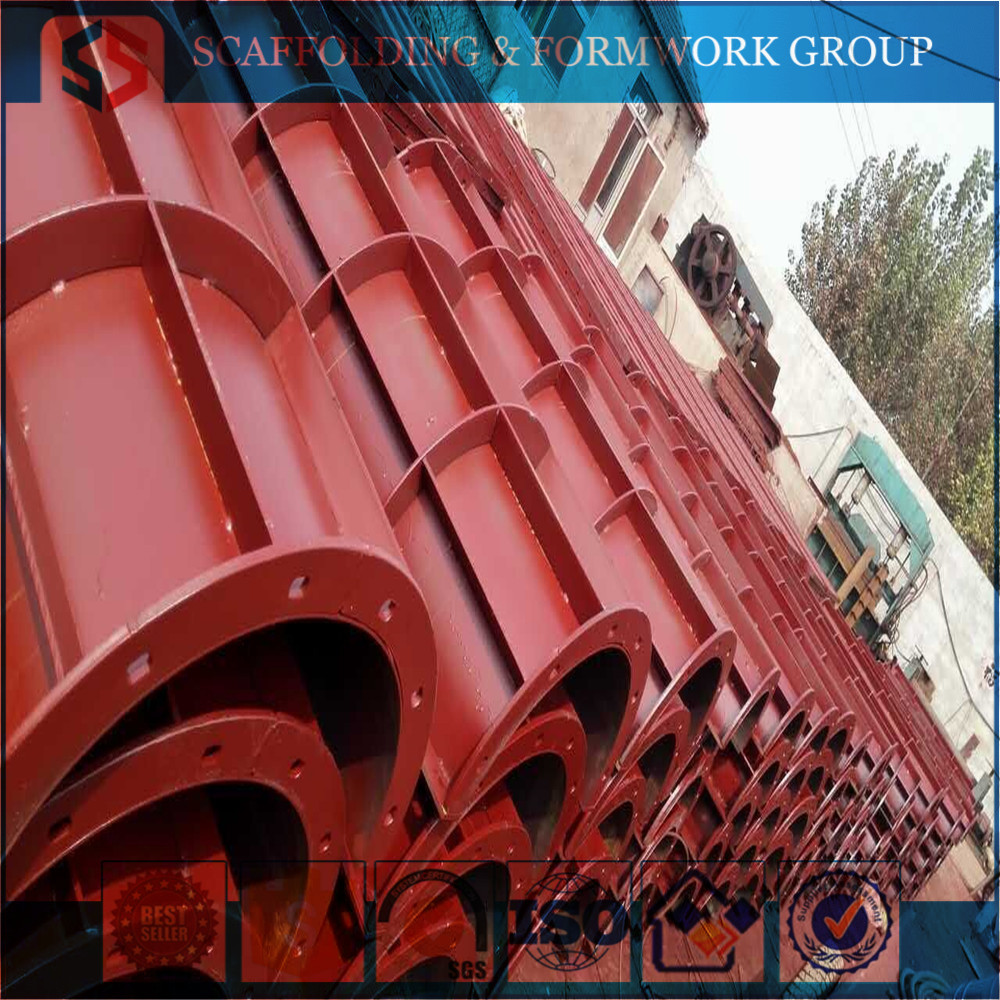 MF-2283 Tianjin Shisheng Flexible Steel Metal Round Curved Concrete Column Wall Forms for Sale