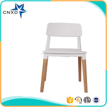 Best Price Wooden Legs Plastic Chair For Dining Room