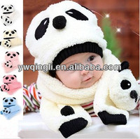 childrens hat&scarf sets.panda scarf and hat lovable childrens scarf and hat