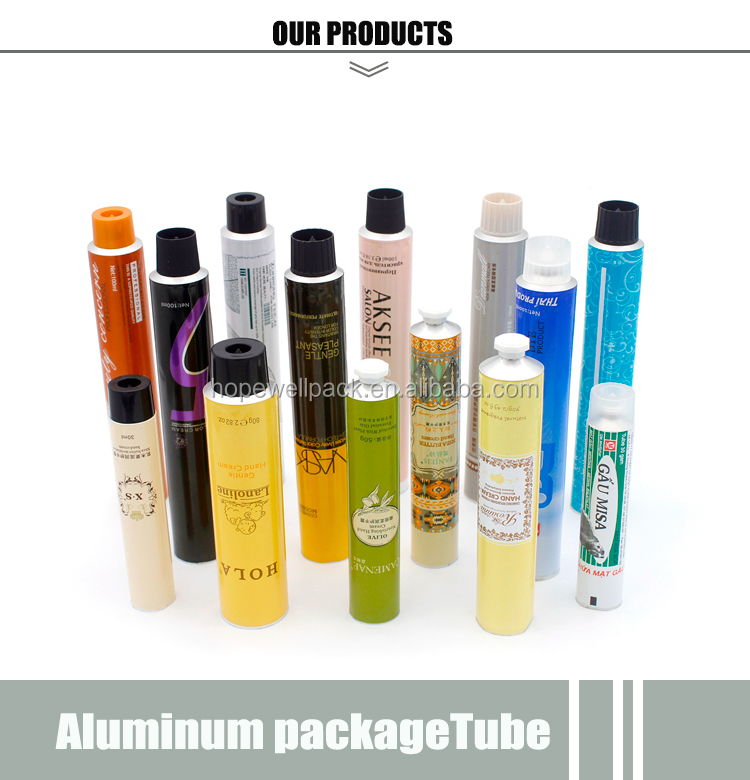 High quality beautiful cosmetic aluminum squeeze tubes Pharmaceuticals empty collapsible aluminum cosmetic tube