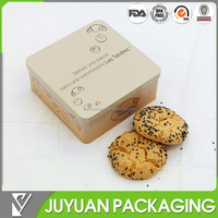 Square cookie metal box food packaging tin container factory wholesale