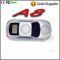 A8 Car Mini Speaker car toys speakers Support FM Radio support Computer / TF Card /U flash memory