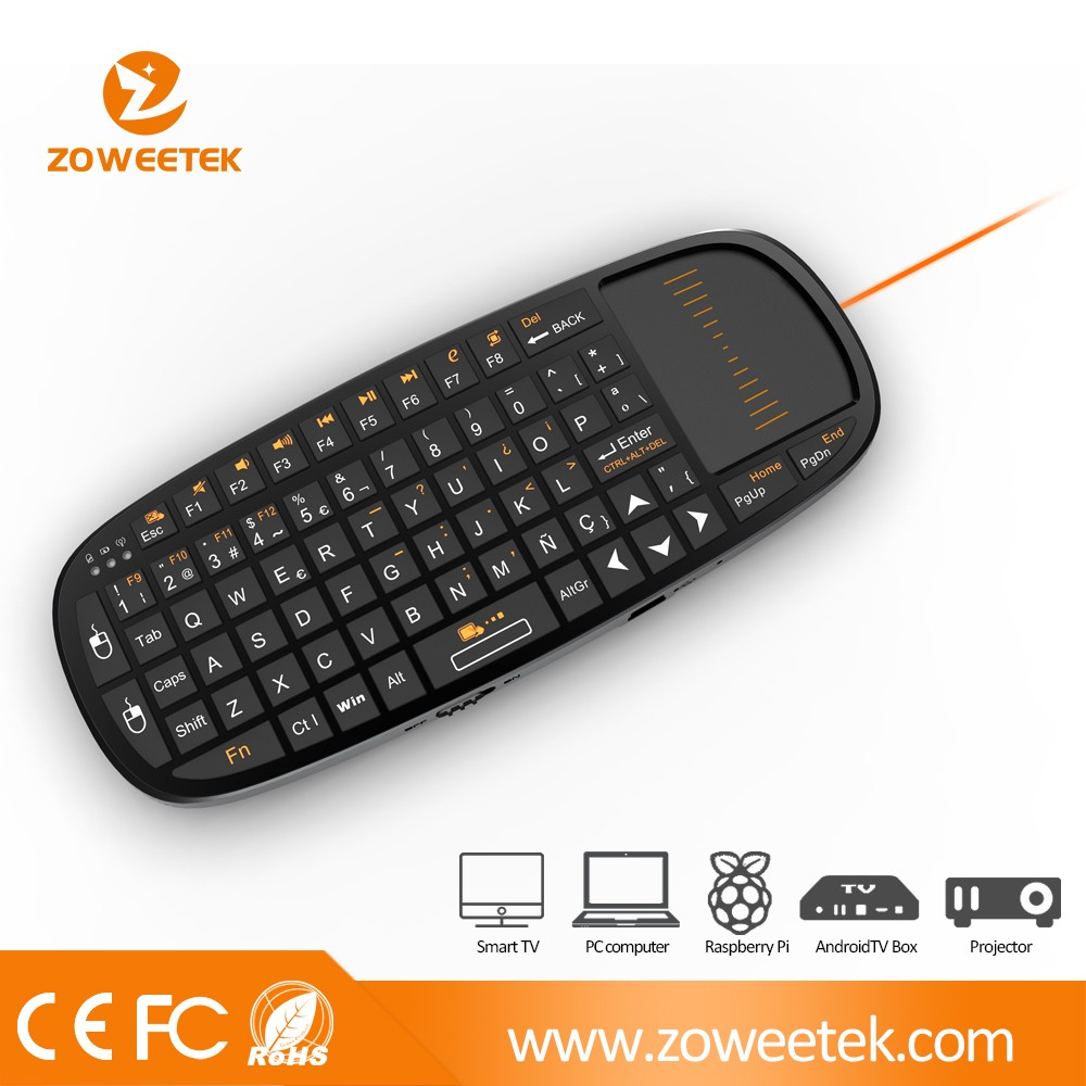 with laser pointer micro wireless keyboard and mouse