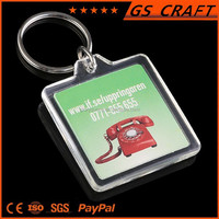 Custom made cheap new arrival square keychain