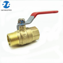 Brass long stem seat fixed ball valve with nipple