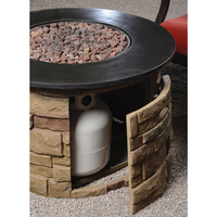 Outdoor Gas Hibachi Grill Gas Fire Pit for Backyard