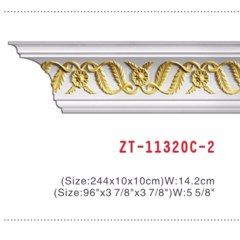 Classic decorative moulding cornice of wood frame moulding gypsum crown moulding
