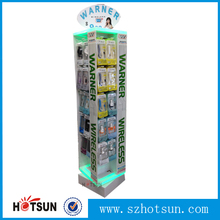 High end acrylic POS display stand for mobile accessories