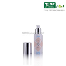 PET cosmetic bottle with spray pump for toner