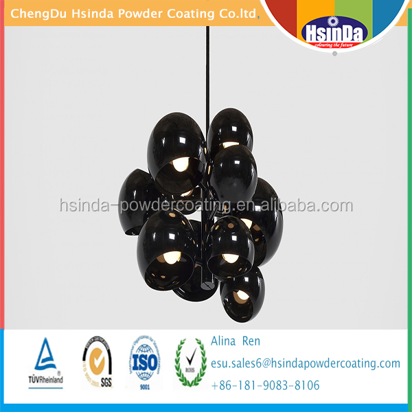 Hot selling high gloss mirror chrome mirror black powder coating paint