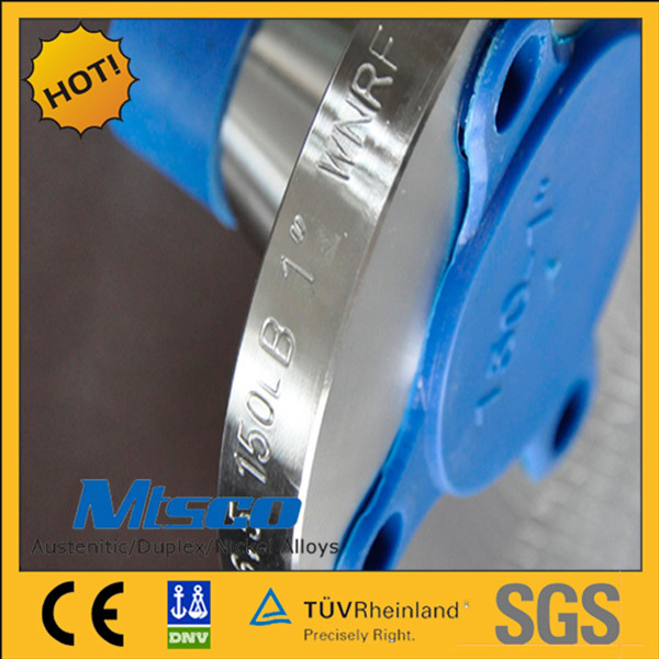 F304 Stainless Steel Flange For Connection , WNRF SCH80 A / SA182 150 Class