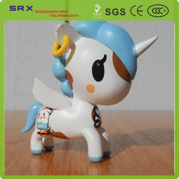 2015 custom plastic unicorn toys,plastic animal toys,plastic animal hard toys