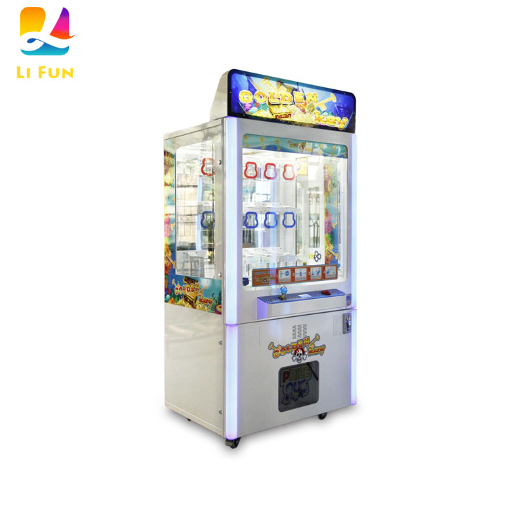 Neofuns Key Master Coin Operated Arcade Prize Vending Game Machine Golden Key Point Lock Claw Crane Machine Indoor for Sales