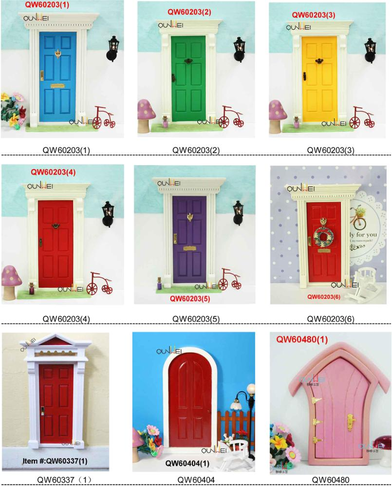 2014 Fashion Design Chritmas Mini Wood Fairy Doors hand made/ Dollhouse Accessories -wholesale QW60404