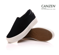 rubber sole girls women fashion popular canvas loafer shoes