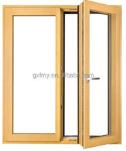Hot French Aluminum Wooden Grain Color Single Main Door Design