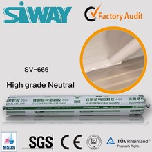 Neutral silicone structural sealant for transportation
