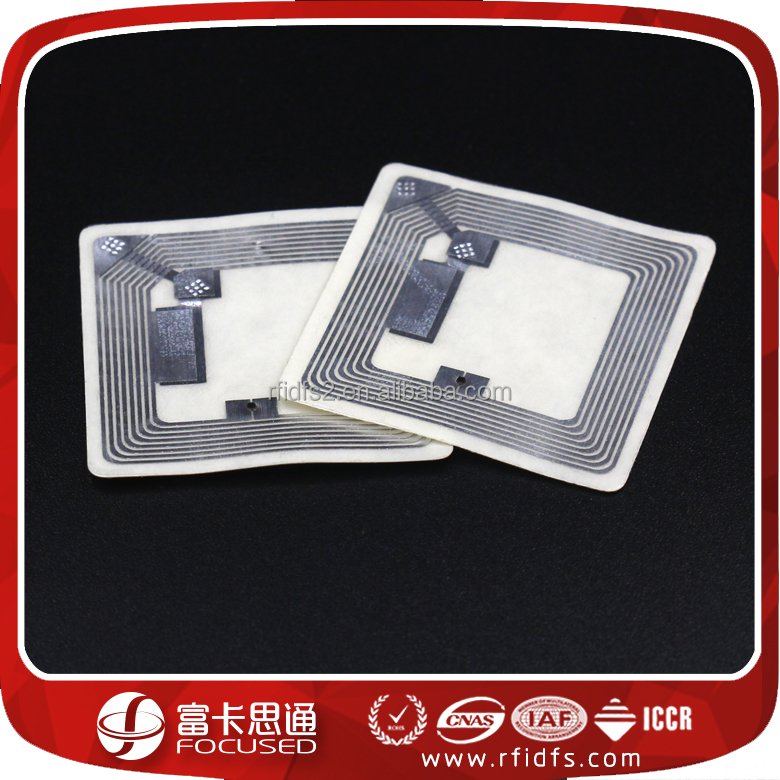 RFID dry / wet inlay with Ntag203 Ntag213 Ntag216