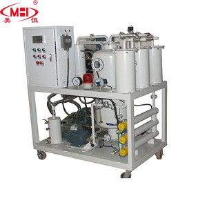 Waste oil purification machine to recycle black to be yellow color e waste lubricant oil recycling machine