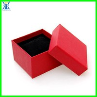 Yiwu 2015 New Arrived plain wholesale red blank craft handmade unique paper ring box