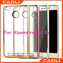 OEM Transparent Clear Electroplating TPU Mobile Phone Case For Xiaomi redmi 3s