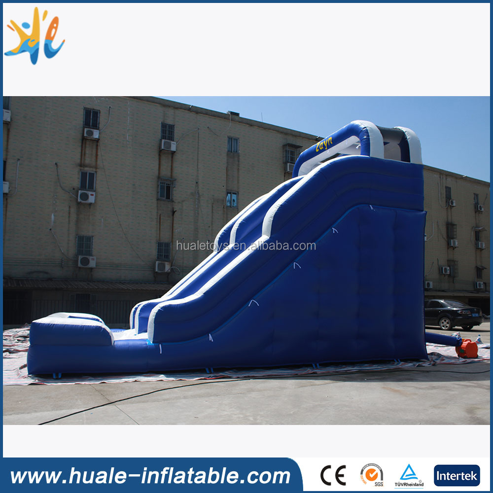 Hot sales inflatable blue water slide for kids