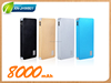 Fast Charging Ultra Thin Polymer Power Banks 8000mah Portable Backup Battery Case For iPhone