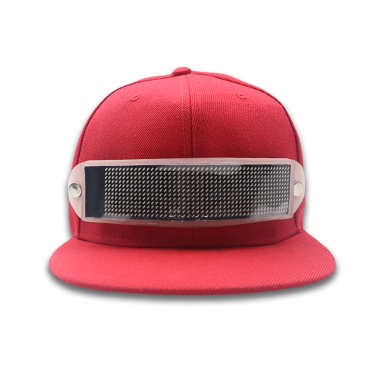 plain blank promotional cotton Led snapback cap custom products
