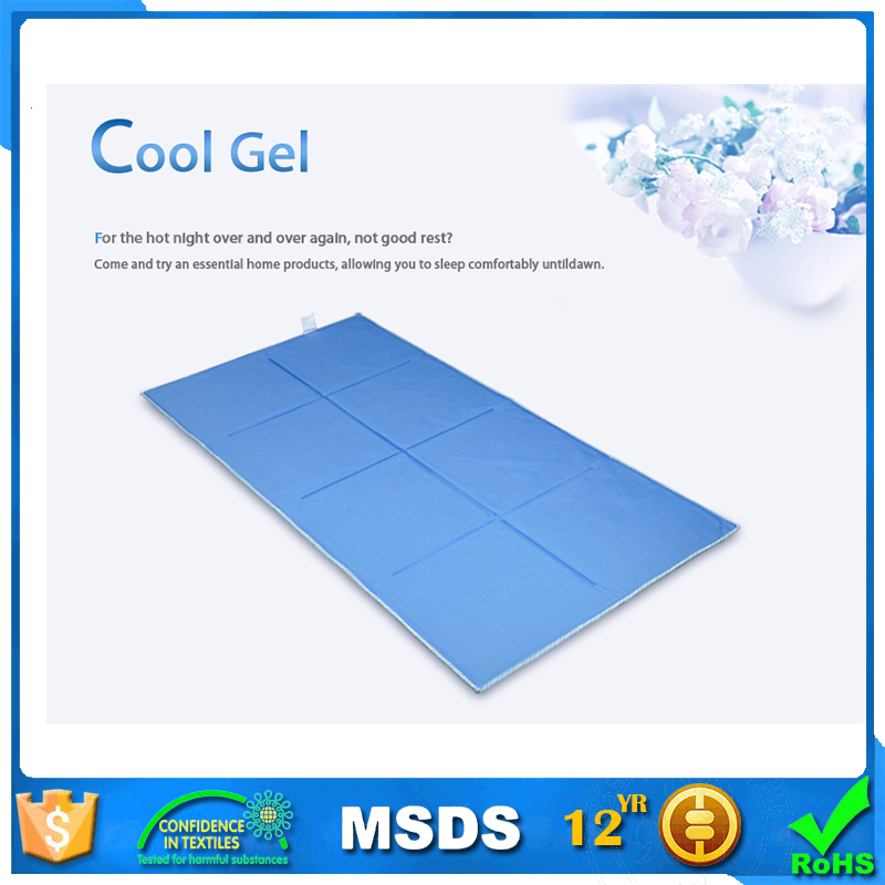 Temperature balance mattress topper pillow cool gel , Summer cool mattress silicone gel, portable memory foam mattress