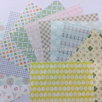 Gift Wrapping Paper Colorful Designs For DIY Hand Craft Fresh 15X15CM
