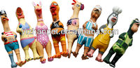 Latex toys screaming chicken/rooster bath toys