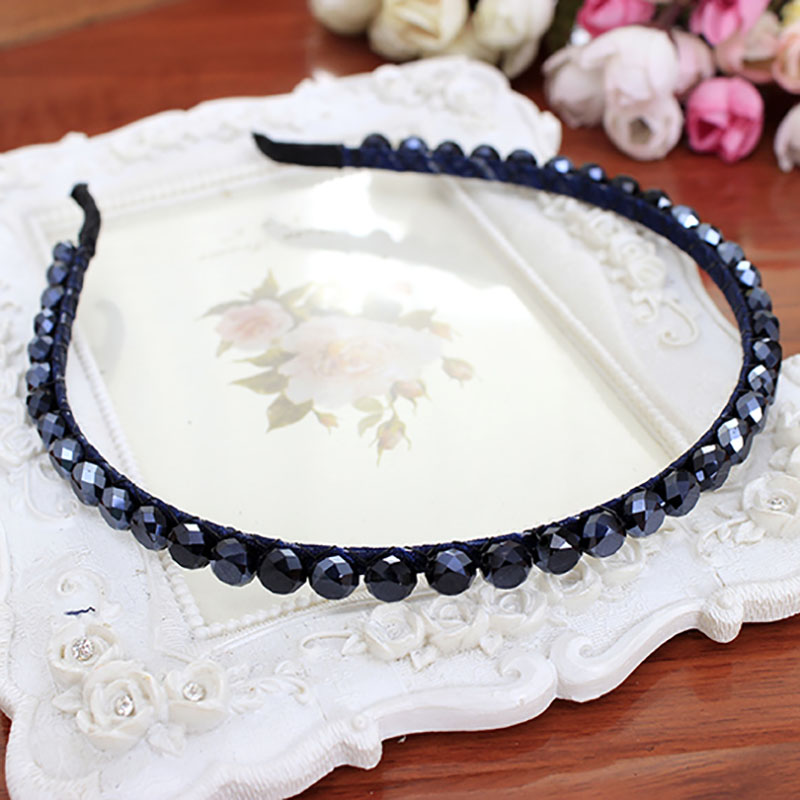 Hot Selling Fashion Multicolor Headband Korean Style Rhinestone Crystal Hair Band for Girls Women Headwear Hair Accessories