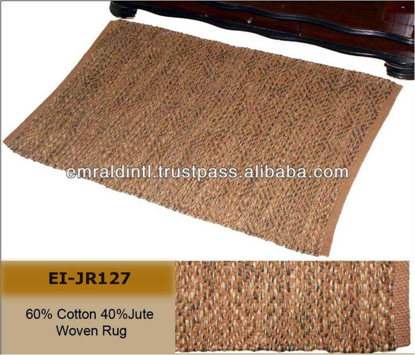 NATURAL COTTON JUTE POINTED RUGS