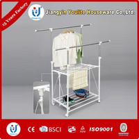 stainless steel clothes double-pole hanging rack