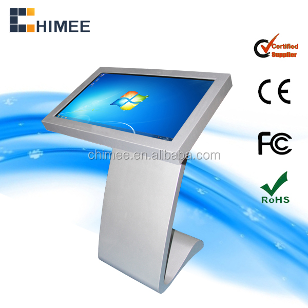 32 inch Floor Standing LCD Touch Screen Interactive Kiosk, Digital Signage