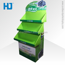 Environmental foldable cardboard advertising display stands, point of sale cardboard display for fruit/soft drinks