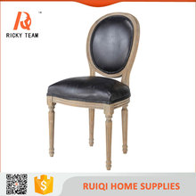 Strong solid wood dinner restaurant chair modern leather dinning chair