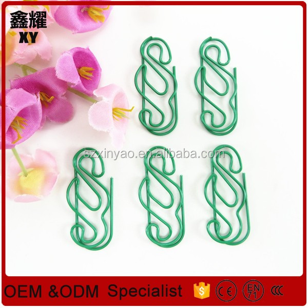 Promotional gifts custom logo paper clip shape metal S shape paper clips