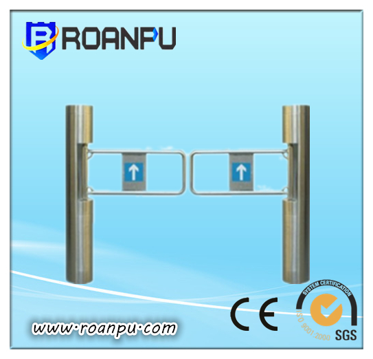 TCP/IP Access Control Security Pedestrian Swing Turnstile Barrier Integrated Rfid Card Reading System