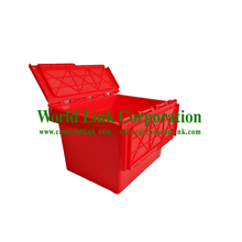 Easy Moving Stackable Plastic Storage 50kgs Attach Lid Container