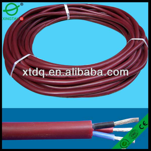 Multicore silicone rubber cable