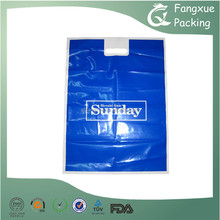 High quality plastic po die cut bag goods packing hand carrier