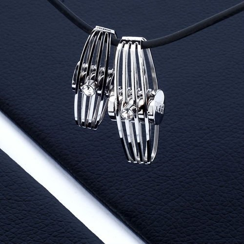 Stainless Steel Crystal Jewelry Pendant Blank Accessory(BP10288)