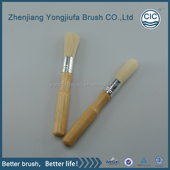 Coffee machine round wood handle Paint Brush