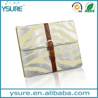 Belt buckle leather case for ipad, imprint outside with card slots ,luxury style