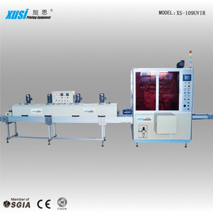 Full-Automatic 1 color Turntable Screen Printing Equipment for Circular products XS-109UVIR