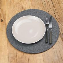 Alibaba top quality 5mm grey round felt placemat for promotion