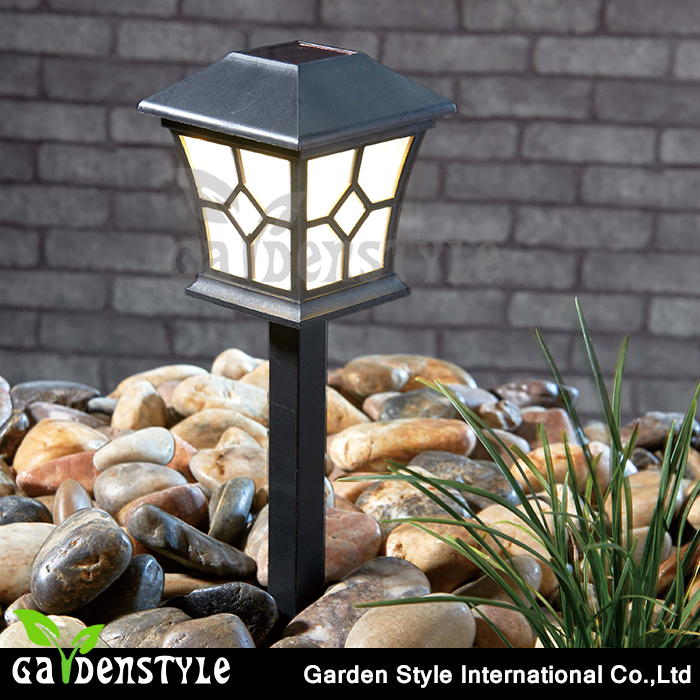 garden solar light landscape, unique candle holder decorative outdoor garden light